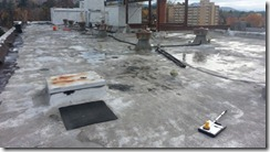 Roof Coatings - SPF Spray Polyurethane Foam Roof with Ponding Water (Bird Baths)